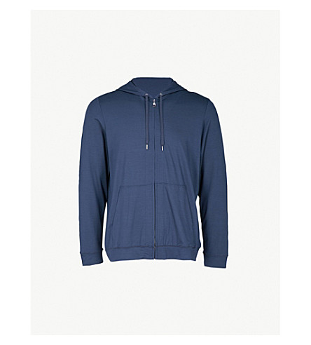 DEREK ROSE Basel jersey hoody (Denim