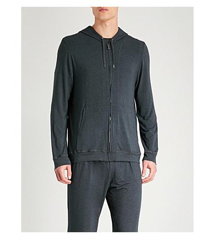 DEREK ROSE Marlowe stretch-jersey hoody (Anthracite