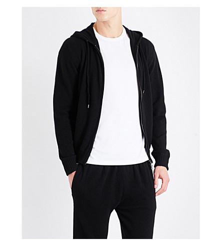 DEREK ROSE Finley cashmere hoody (Black