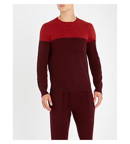DEREK ROSE Finley cashmere sweater (Burgundy
