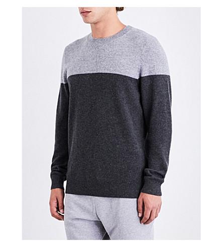 DEREK ROSE Finley cashmere jumper (Charcoal