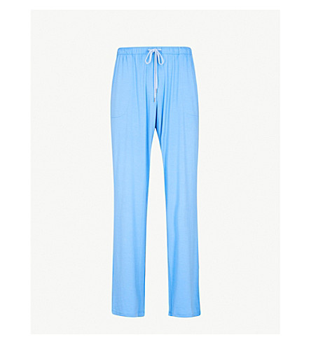 DEREK ROSE Basel stretch-jersey pyjama bottoms (Blue