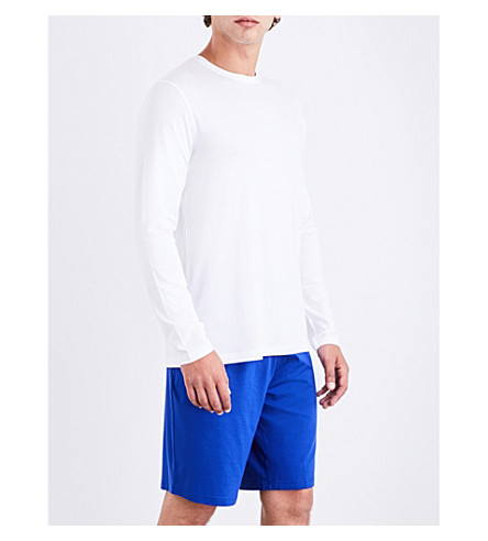 DEREK ROSE Dropped-crotch micro-modal shorts (Brt+blue