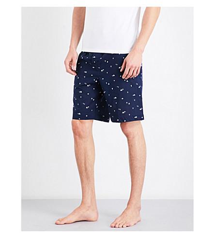DEREK ROSE Naturally India cotton house shorts (Navy