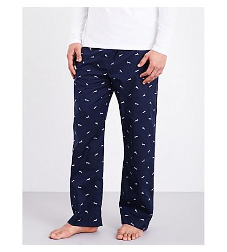 DEREK ROSE Nelson 61 cotton pyjama bottoms (Navy