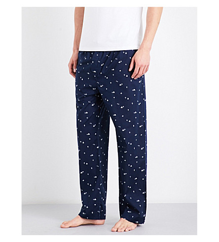 DEREK ROSE Naturally India cotton pyjama bottoms (Navy