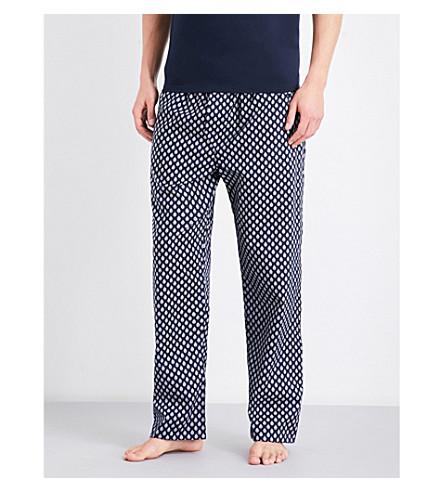 DEREK ROSE Naturally paisley cotton pyjama bottoms (Navy