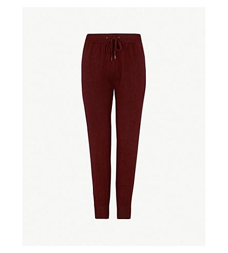 DEREK ROSE Finley cashmere pyjama bottoms (Burgundy