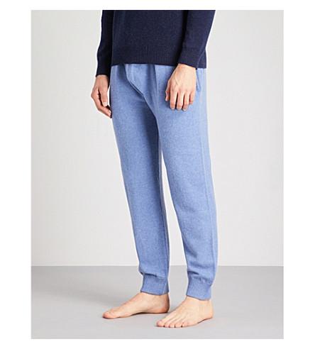 DEREK ROSE Finley cashmere pyjama bottoms (Lt+blue