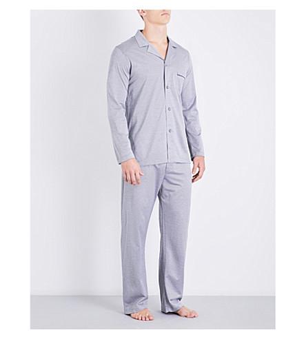 DEREK ROSE Bari puppytooth cotton pyjama set (Mono