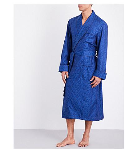 DEREK ROSE Paris cotton dressing gown (Blue