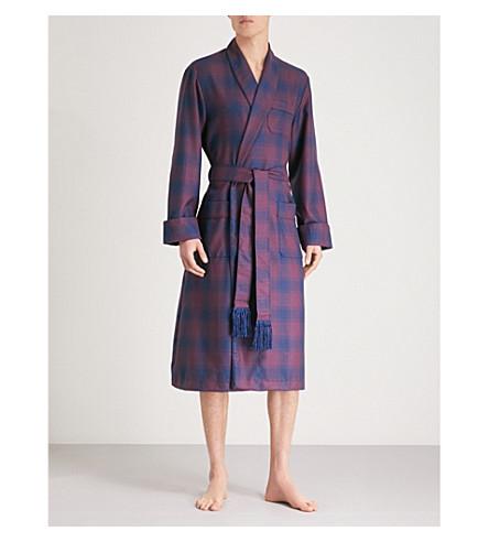 DEREK Bata Rojo ROSE de azul marino a lana cuadros f7zrqRfA