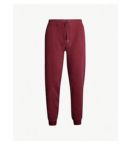 DEREK ROSE Devon cotton-jersey jogging bottoms (Burgundy