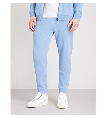 DEREK ROSE Devon cotton jogging bottoms (Lt+blue