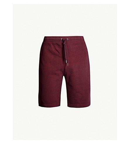 DEREK ROSE Devon cotton-jersey pyjama shorts (Burgundy