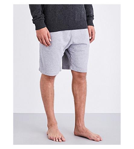 DEREK ROSE Devon cotton-jersey pyjama shorts (Silver