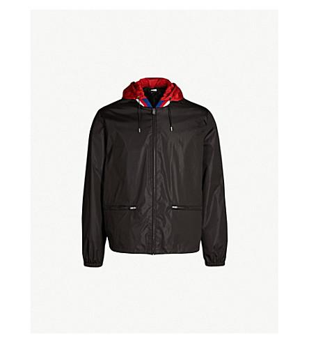 GUCCI Logo-print shell windbreaker jacket (Black