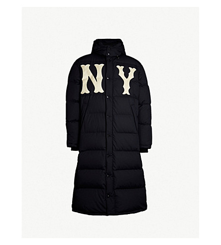 6606c9d88a4dd GUCCI NY Yankees™ patch quilted shell-down coat (Black