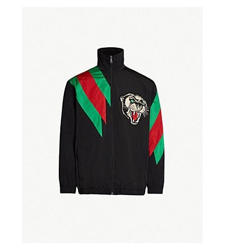 GUCCI Colour-blocked shell jacket (Black