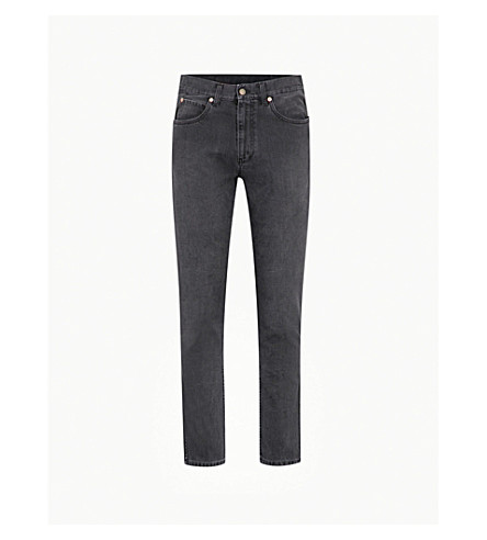 GUCCI Faded slim-fit skinny jeans (Black