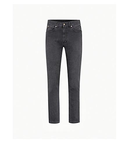 GUCCI Faded slim-fit skinny jeans (Black