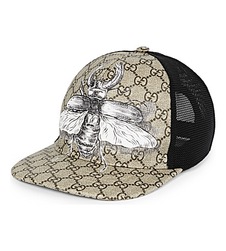GUCCI Insect canvas baseball cap (Beige