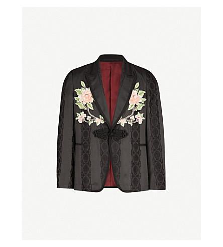 GUCCI Embellished jacquard silk-blend jacket (Black