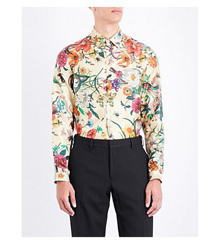 GUCCI Flora Snake regular-fit silk-twill shirt (Multi