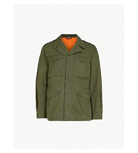 GUCCI Logo-print cotton-blend field jacket (Khaki