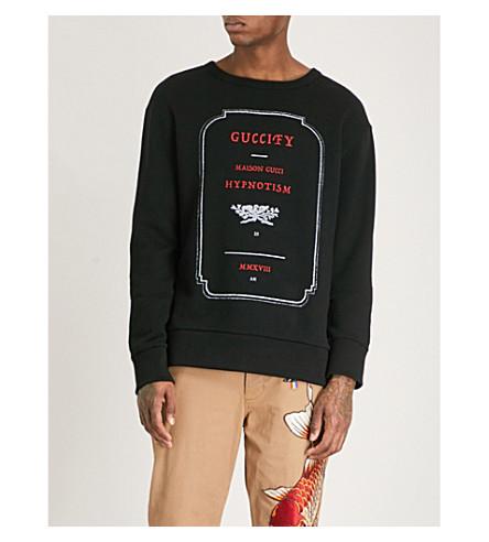 GUCCI Hypnotism cotton sweatshirt (Black