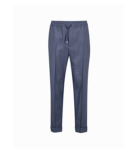 GUCCI Classic tapered wool trousers (Blue