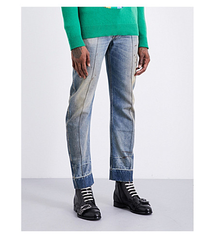 GUCCI Seam-detail slim-fit tapered jeans (Blue