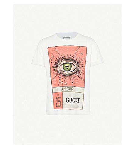 GUCCI Eye print cotton-jersey T-shirt (White