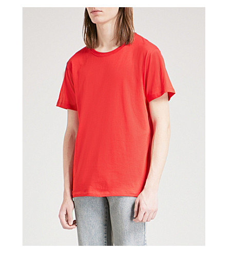 GUCCI Logo-print cotton-jersey T-shirt (Red