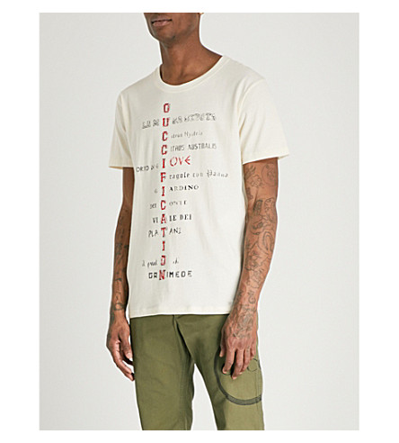 GUCCI Guccification cotton-jersey T-shirt (Cream