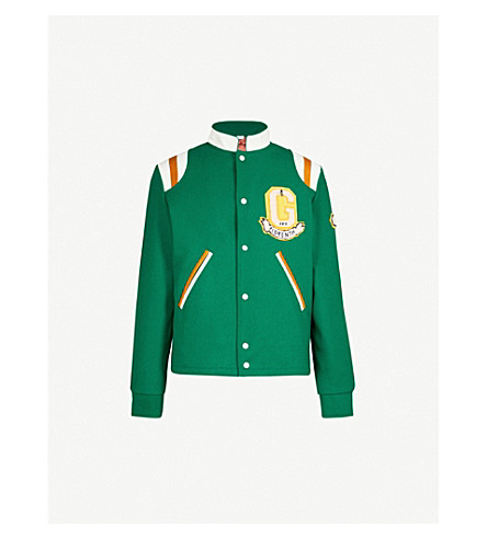 GUCCI Varsity wool jacket (Green