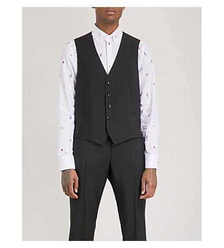 GUCCI Floral snake-print wool-blend waistcoat (Black