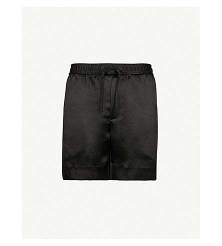 GUCCI Side-stripe satin shorts (Black
