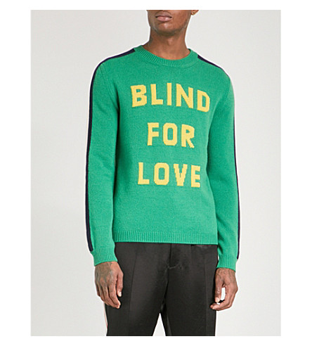 GUCCI Blind For Love wool jumper (Green