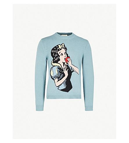 GUCCI Snow White wool jumper (Blue