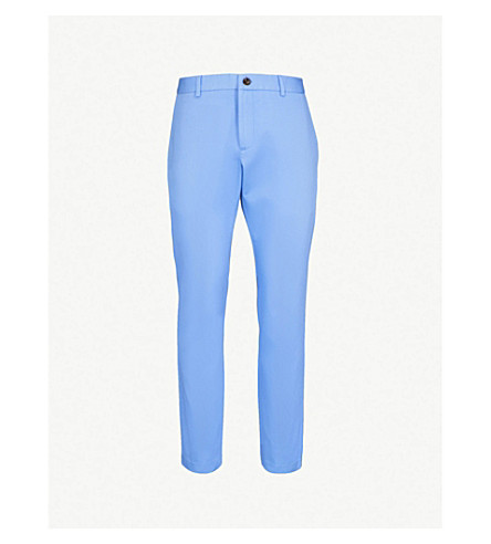 GUCCI Straight mid-rise cotton-canvas chinos (Blue