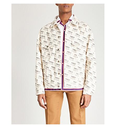 GUCCI Logo-print denim jacket (Ivory