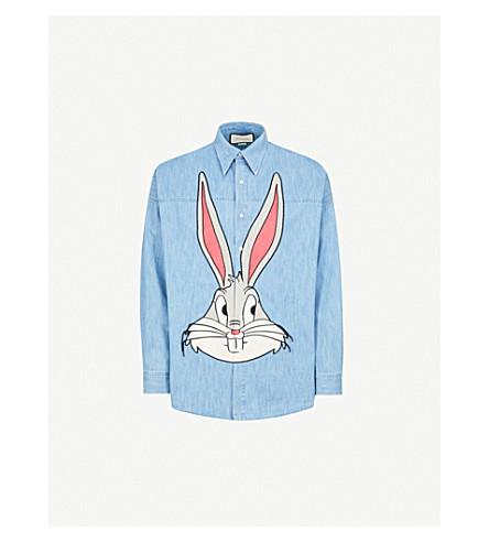 GUCCI Bugs Bunny regular-fit denim shirt (Blue