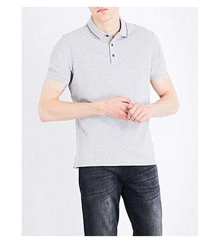 BARBOUR B.Intl. International cotton polo shirt (Grey