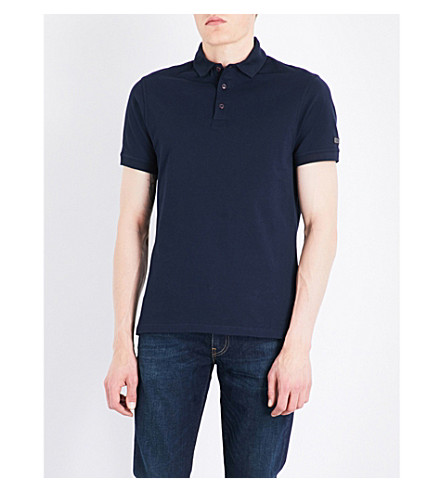 BARBOUR B.Intl. Lydden stretch-cotton polo shirt (Navy