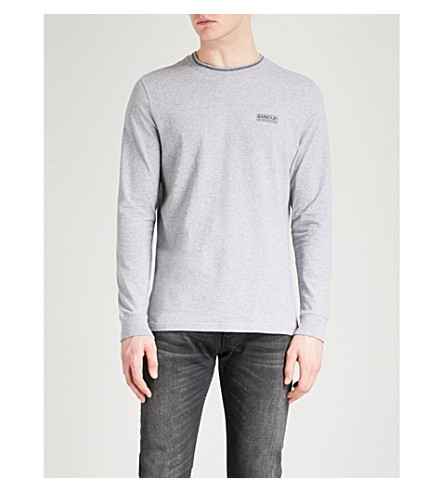 BARBOUR Apex cotton-jersey top (Grey