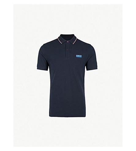 BARBOUR International contrast-trim cotton-piqué polo shirt (Navy