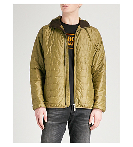 BARBOUR Hooded shell jacket (Pea+greeen