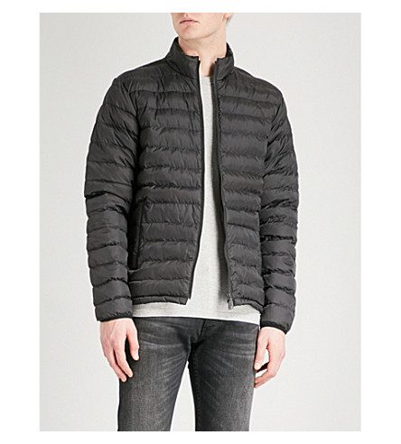 BARBOUR Quilted shell jacket (Black