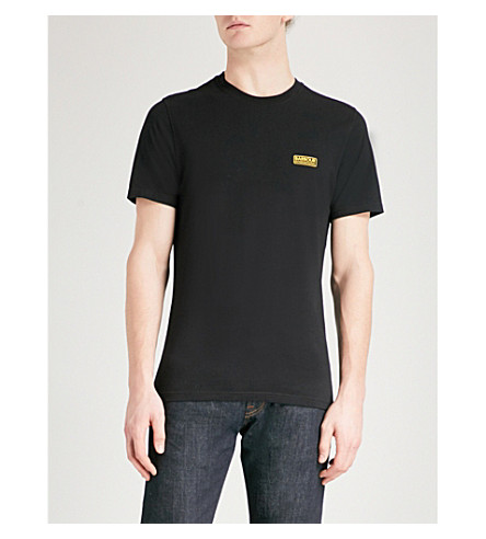 BARBOUR International logo cotton-jersey T-shirt (Black